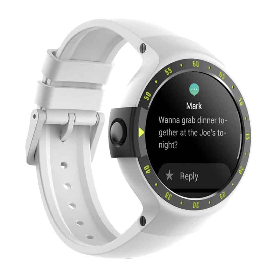 Ticwatch S Smartwatch-Glacier,1.4 inch OLED Display, Android Wear 2.0,Compatible with iOS and Android, Google Assistant
